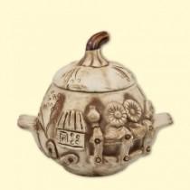 """Un conjunto de ollas de cerámica """"Garbuz"""" 0,65 l (6 unid)"""