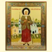 """Icono """"Kseniya Peterburgskaya"""", 25*28 cm,"""