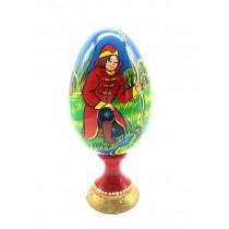 "Huevo de madera ""Princesa la rana"", 17 cm"