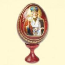 "Huevo de Pascua con icono ""San Nicolás"", 10 cm"