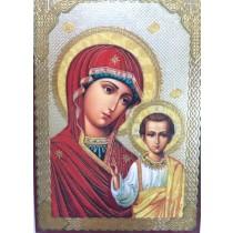 """Icono """"Kazanskaya"""" con oración"""