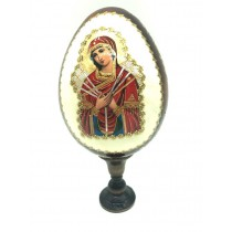 "Huevo de Pascua con icono ""Señora con siete espadas"", 18 cm"
