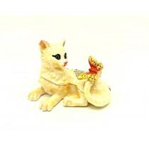 Caja  de gato  Faberge, 5 * 7 * 5 cm.