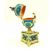 Huevo Faberge musical, cajita, 15 * 5 cm.