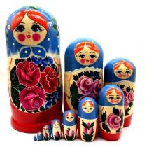 """Matrioska """"Ramo de flores"""", 10 piezas"""