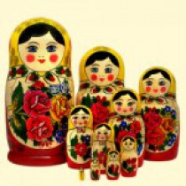 "Matrioska tradicional ""Semenovskaya"" (M10), 27 cm"