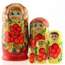 """Muñeca rusa """"Colores de España"""" 5 piezas"""