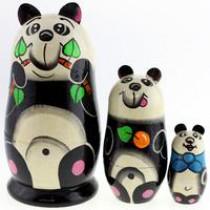 "Matrioska ""Panda"" 3 piezas"