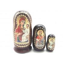 Matrioska Religion, 3 piezas