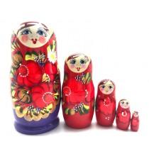 "Matrioska ""Flores"", 5 piezas"