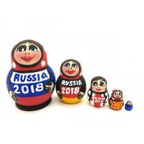 """Matrioska mini """"RUSIA 2018"""", 5 cm"""