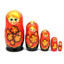 "Matrioska ""Flores de oro"", 17 cm 5 piezas"
