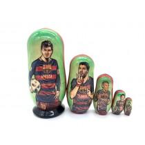 """Matrioshka """"Messi"""", 5 piezas, 11 cm"""