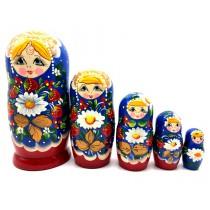 """Muñeca rusa """"Fresas y margaritas"""", 18 см"""
