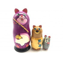 "Matrioska ""Gatos"", 16 cm, 3 piezas"