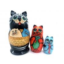 "Matrioshka ""Gatos"". 15 cm"