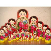 Muñeca rusa Semenovskaya, 30 piezas
