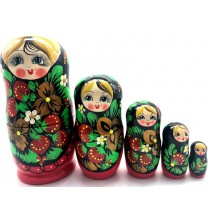 "Muñeca rusa ""Fresas"", 18 cm"