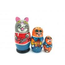 "Matrioska ""Gato"" 12 cm"