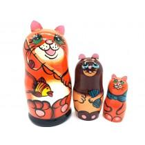 "Muñeca rusa Gato Naranja"", 16 cm"