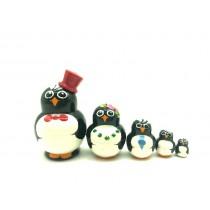 """Muñeca rusa mini """"Pinguino"""", 4 cm"""