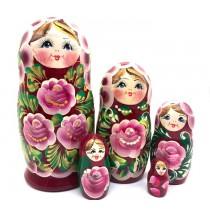 """Muñeca rusa """"Rosas"""", 15 cm"""