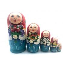 """Muñeca rusa """"Tulipanes"""", 5 piezas"""