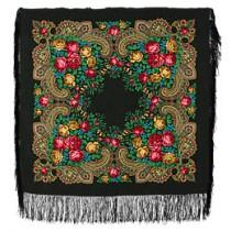 """Chal de lana con flecos de seda, """"Neznakomka"""" 89x89 cm"""