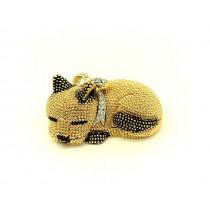 Perro - Caja Faberge, Dorada