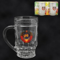"""Jarras de cerveza """"CCCP"""" (2 ud.) 500 ml"""