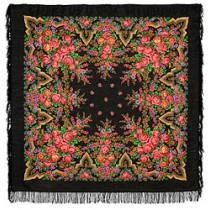 Chal de lana con flecos de seda  , 146x146 cm