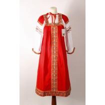 Vestido de tirantes, traje popular ruso