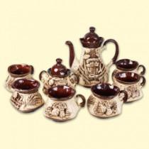 Conjunto de té de cerámica para 6 personas