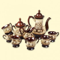 Conjunto de café para 6 personas de cerámica