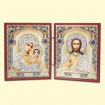 Icono doble en madera, 13*23 cm