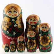 "Matrioska ""Khokhloma""  7 piezas"