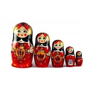 "Matrioska ""Samovar"" 5 piezas"