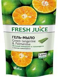 Гель-мыло Зеленый мандарин и пальмароза, 460 мл