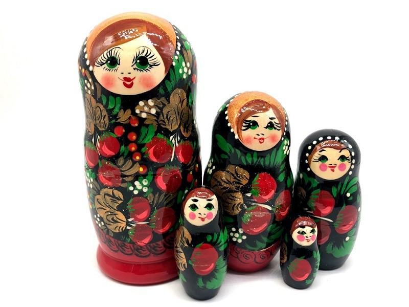 """Матрешка """"Клубнички"""", 5 кукол"""