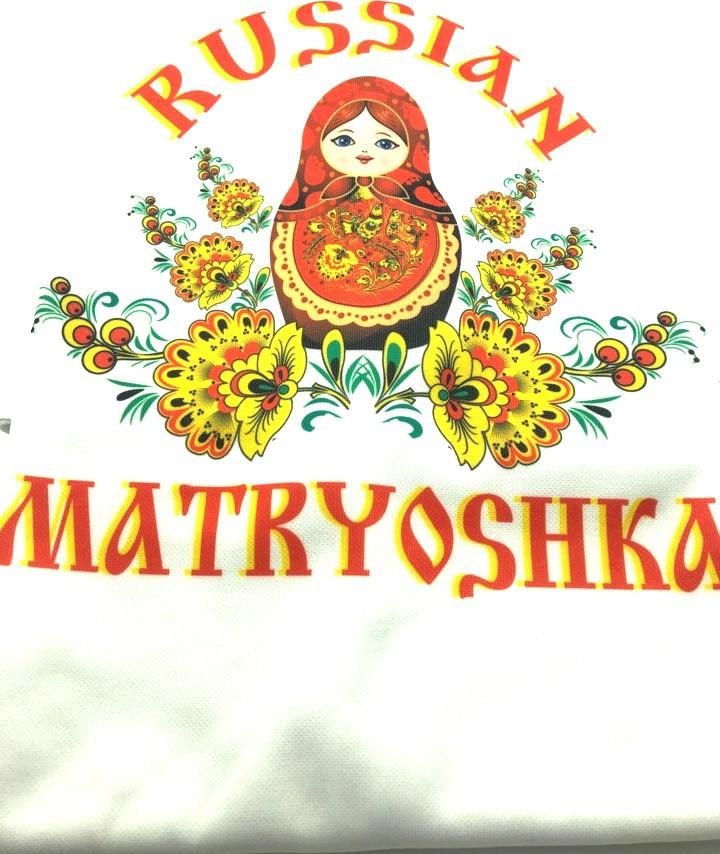 Футболка «Русская матрешка в красном»