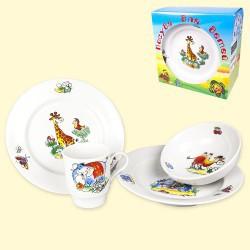 """Набор посуды для детей """"Зоопарк"""""""