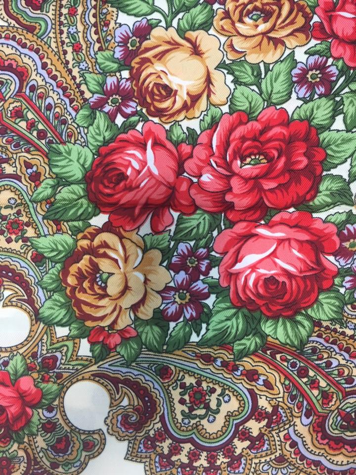 "Платок ""Цветы"", размер 80*80 см"