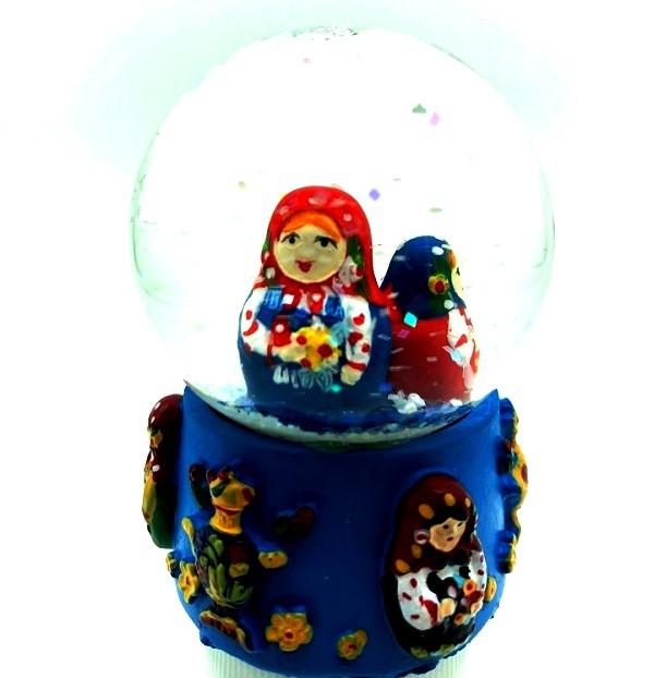 """Снежный шар """"Матрешки"""" с блестками"""