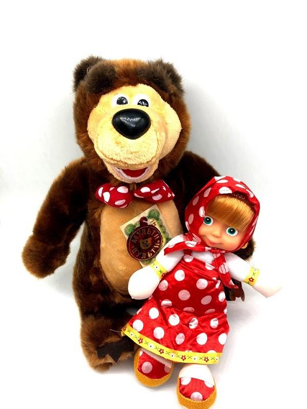 """Мягкая игрушка """"Маша и Медведь"""" 20+ 30 см,"""