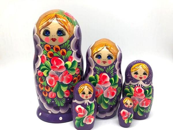 """Матрёшка """"Сирень"""" 19 см"""