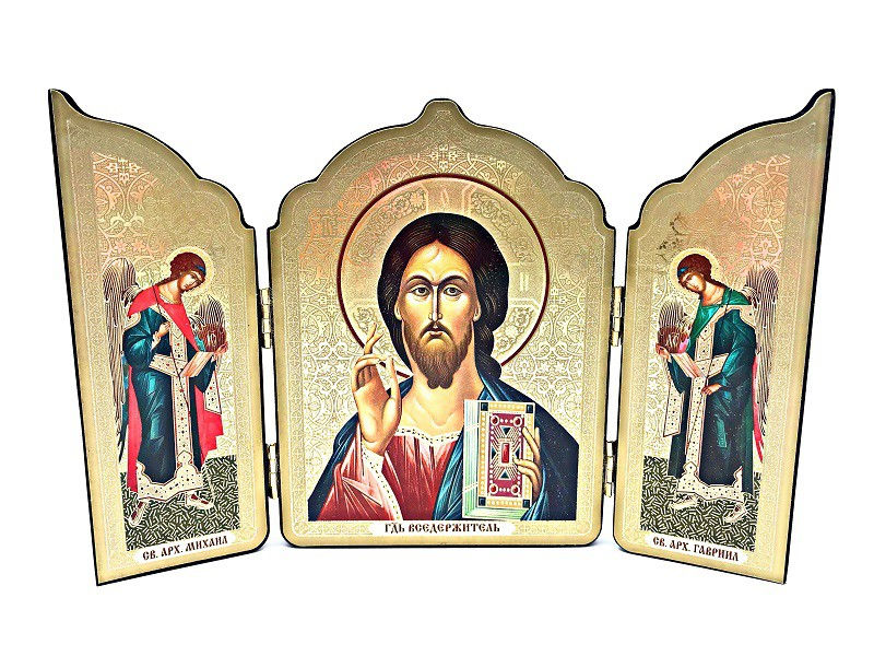 """Икона-складень """" Иисус Христос"""" 12*20 см"""