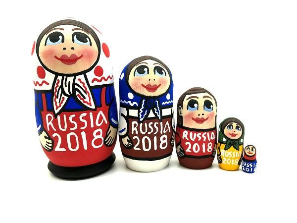 """Матрешка """"Россия 2018"""", 10 см"""