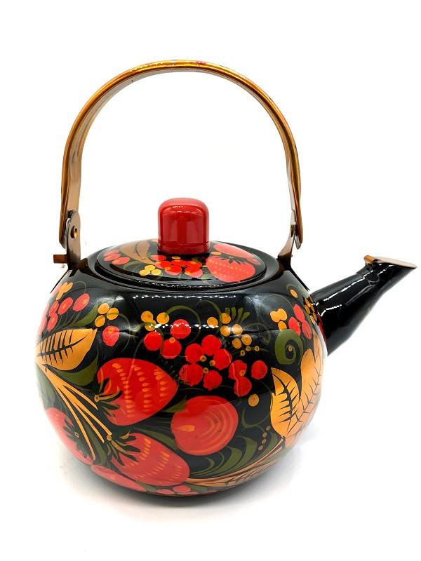 Чайник заварочный, хохломская роспись, металл