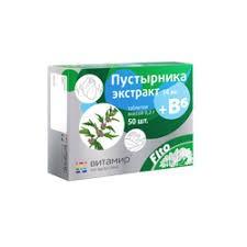 Экстракт пустырника+витамин В6, 50 таблеток