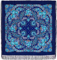 Платок шерстяной с шелковой бахромой Признание, 146х146 см